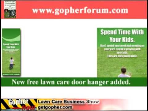 Lawn Care Website Template Free Lawn Care Door Hanger Template and Website Design