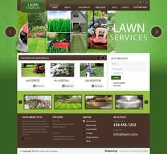 Lawn Care Website Template Garden Design Template On Landscape Design Flash Template