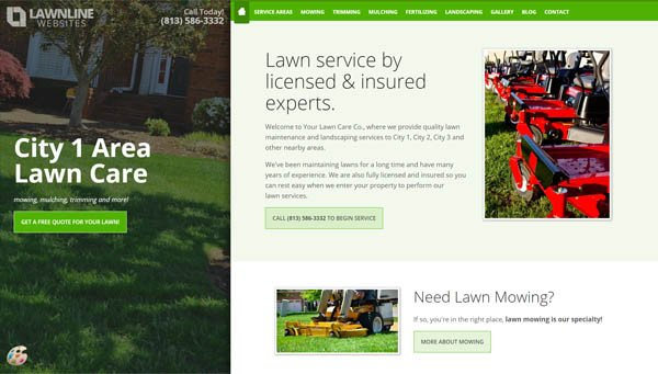 Lawn Care Website Template Lawn Care & Landscaping Website Design Templates
