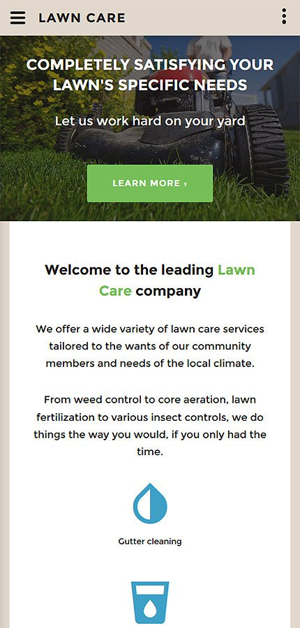 Lawn Care Website Template Lawn Care Website Template