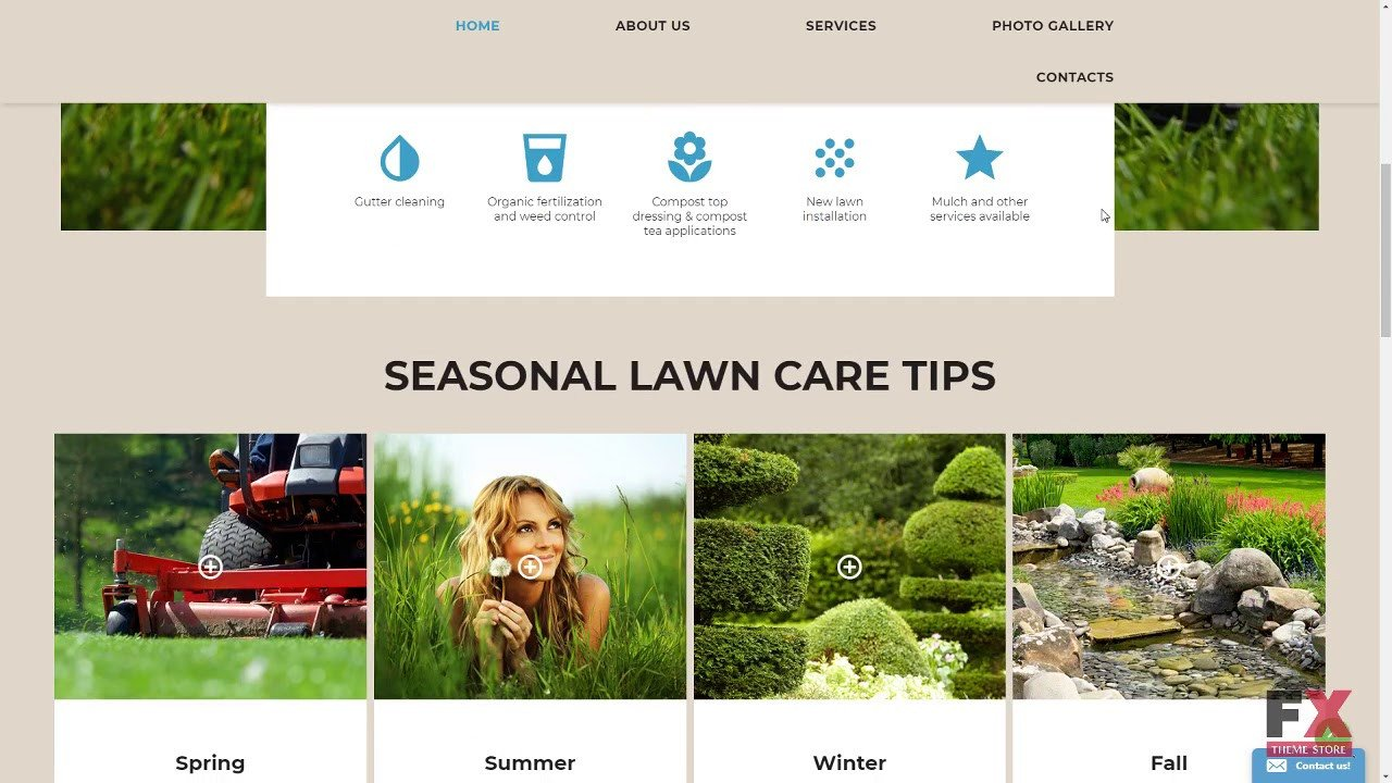 Lawn Care Website Template Lawn Care Website Template Tmt
