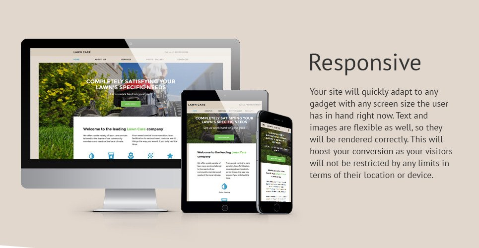 Lawn Care Website Template Lawn Maintenance Website Template
