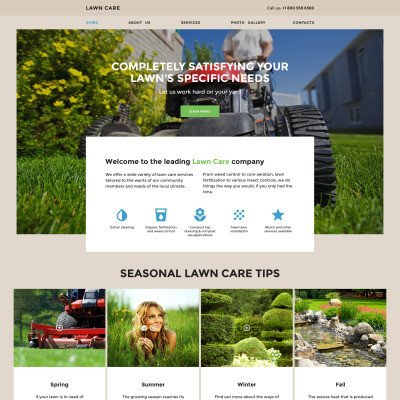 Lawn Care Website Template Lawn Mowing Website Templates