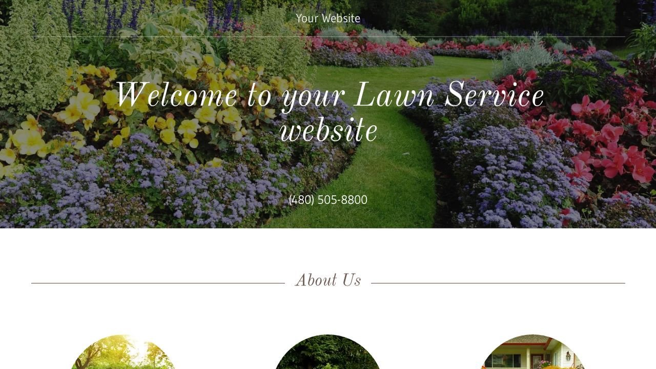 Lawn Care Website Template Lawn Service Website Templates