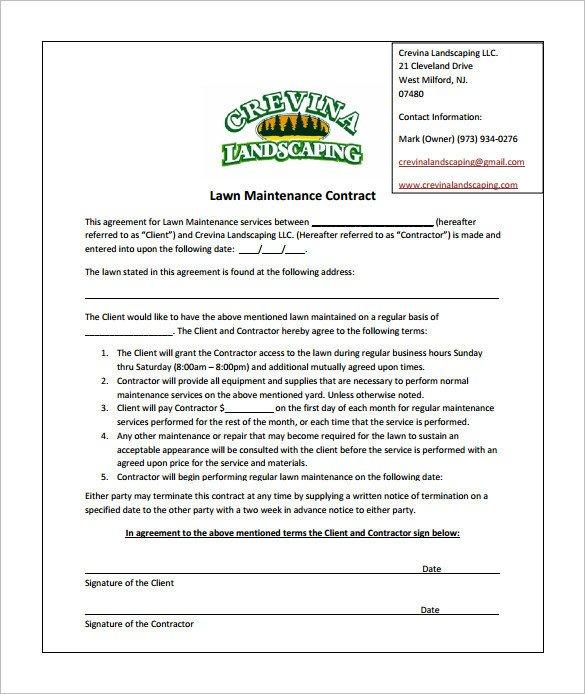 Lawn Service Proposal Template Free Bid Proposal Template for Lawn Care Templates Resume