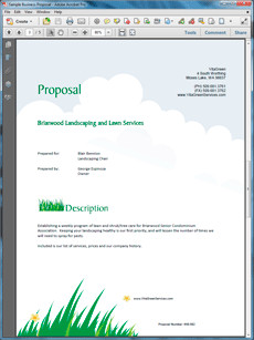 Lawn Service Proposal Template Free How to Write Your Own Lawn Care and Landscaping Services