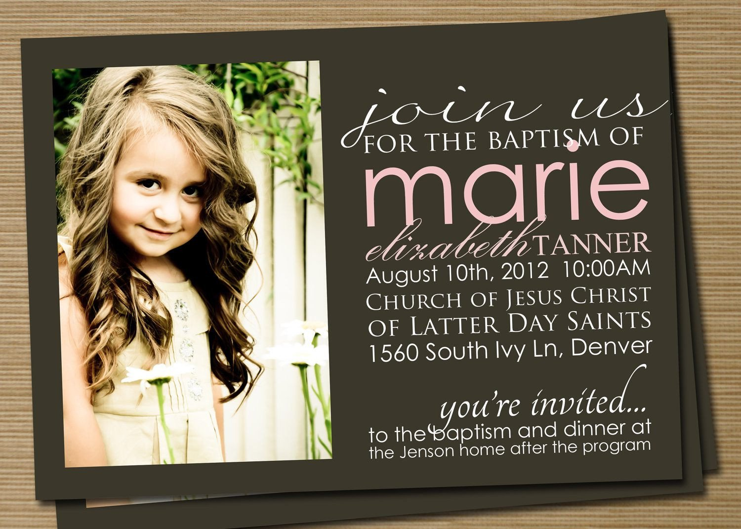 Lds Baptism Announcement Template Free Baptism Invitation Baptism Invitations for Boys New