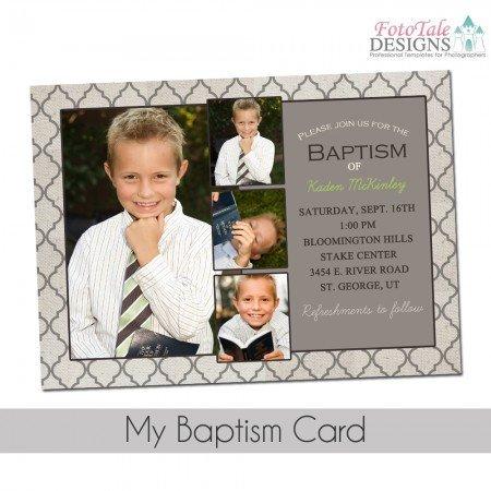 Lds Baptism Announcement Template Free My Baptism Card Custom Invitation Announcement