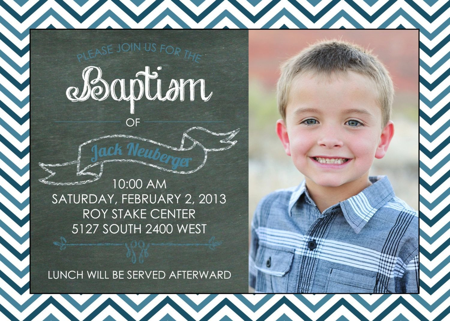 Lds Baptism Announcement Template Free Printable Chalkboard Baptism Invitation Lds Girl Boy