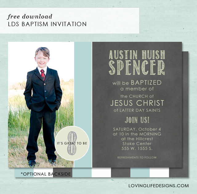 Lds Baptism Invitation Template A Load Craft Lds Baptism Invitation Free