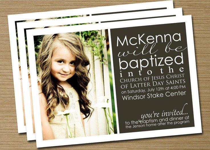 Lds Baptism Invitation Template Best 25 Baptism Announcement Ideas Only On Pinterest