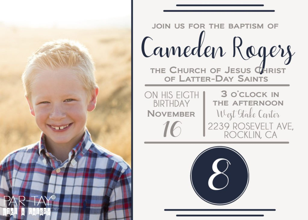 Lds Baptism Invitation Template Free Lds Baptism Announcement Template Party Like A Cherry