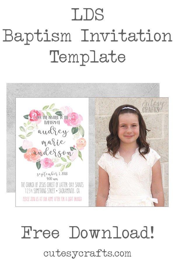 Lds Baptism Invitation Template Free Lds Baptism Invitation Template Cutesy Crafts