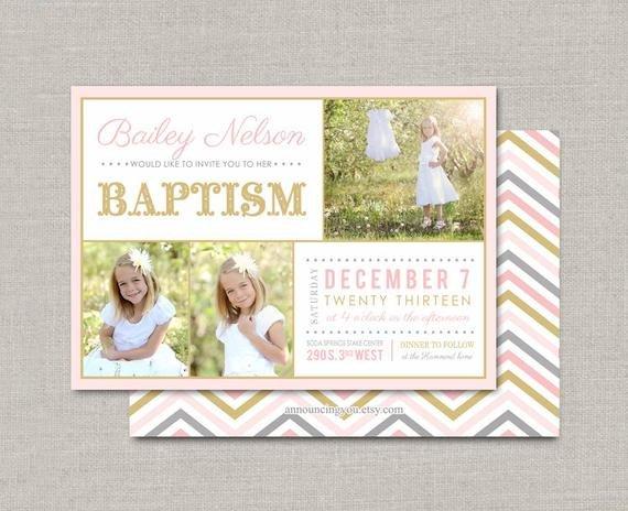 Lds Baptism Invitation Template Lds Baptism Invitation Bailey