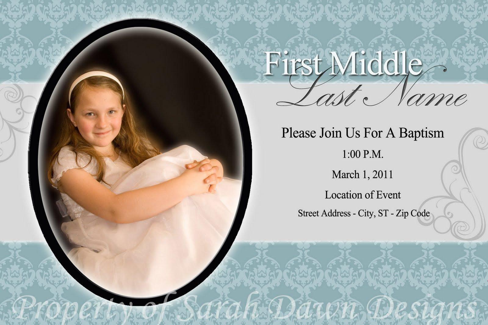 Lds Baptism Invitation Template Lds Baptism Invitation Template Free