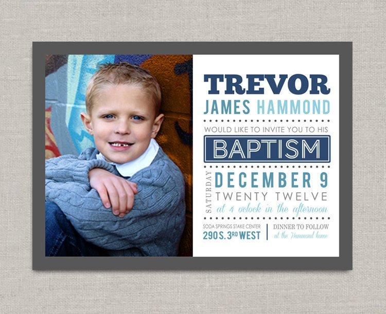 Lds Baptism Invitation Template Lds Baptism Invitation Trevor