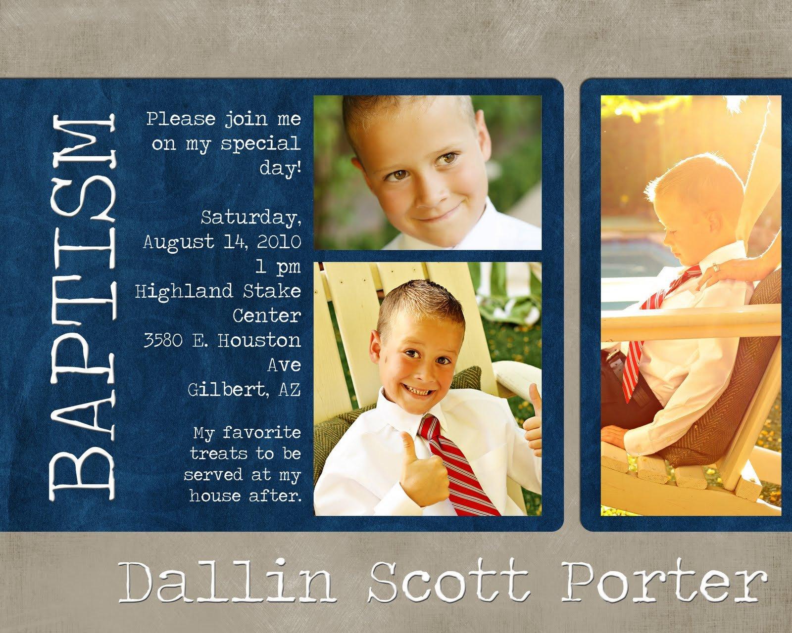 Lds Baptism Invitation Template Mormon Baptism Invitation