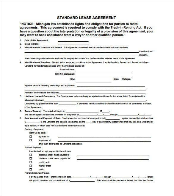 Lease Agreement Template Pdf 11 Lease Contract Templates Free Word Pdf Documents