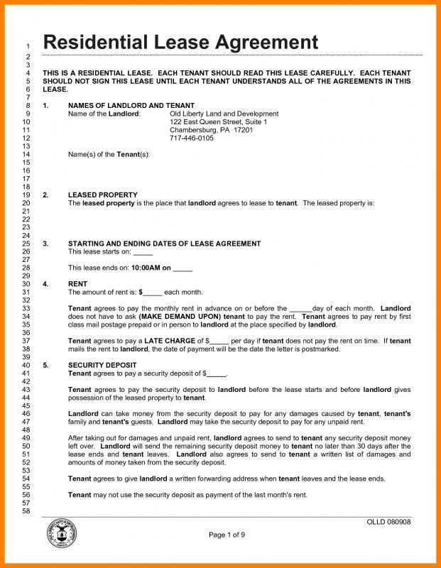 Lease Agreement Template Pdf Lease Agreement Pdf