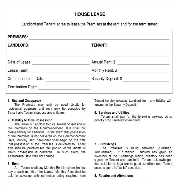 Lease Agreement Template Pdf Rental Agreement Template – 21 Free Word Pdf Documents