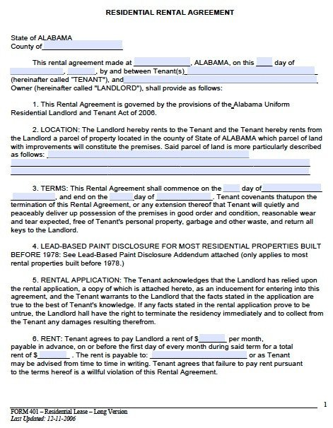 Lease Agreement Template Pdf Rental Lease Agreement Template