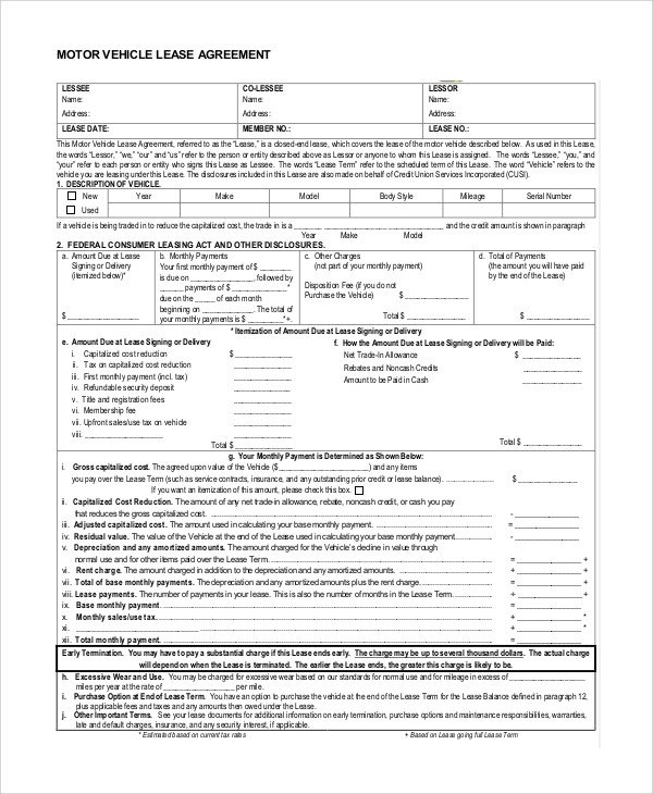 Lease Purchase Agreement form Sample Lease Purchase Agreement 10 Examples In Pdf Word
