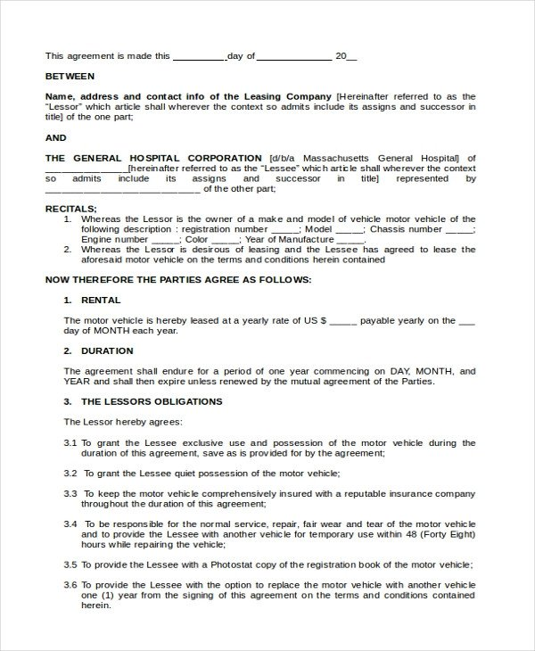 Lease Purchase Agreement form Sample Lease Purchase Agreement form 6 Free Documents