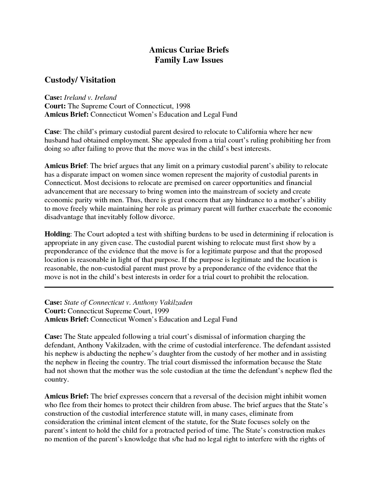Legal Brief Template Word Case Brief Template