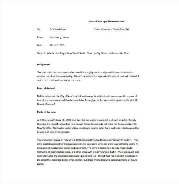 Legal Memorandum Template Word Memo Template – 17 Free Word Pdf Documents Download