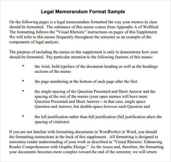 Legal Memorandum Template Word Sample formal Memorandum 6 Documents In Word Pdf