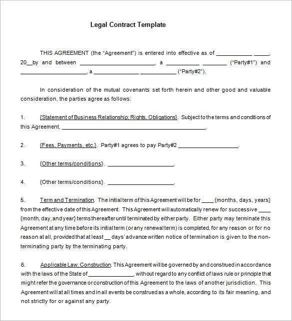 Legal Templates for Word 12 Legal Contract Templates Word Pdf Google Docs