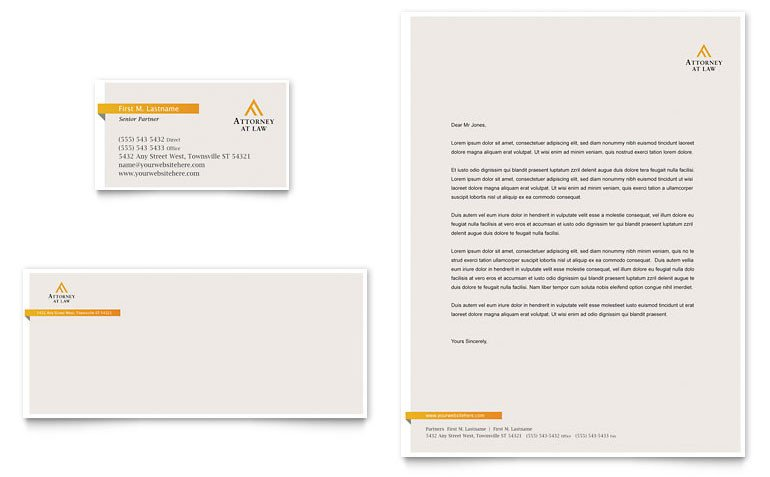 Legal Templates for Word Legal Advocacy Business Card & Letterhead Template Word