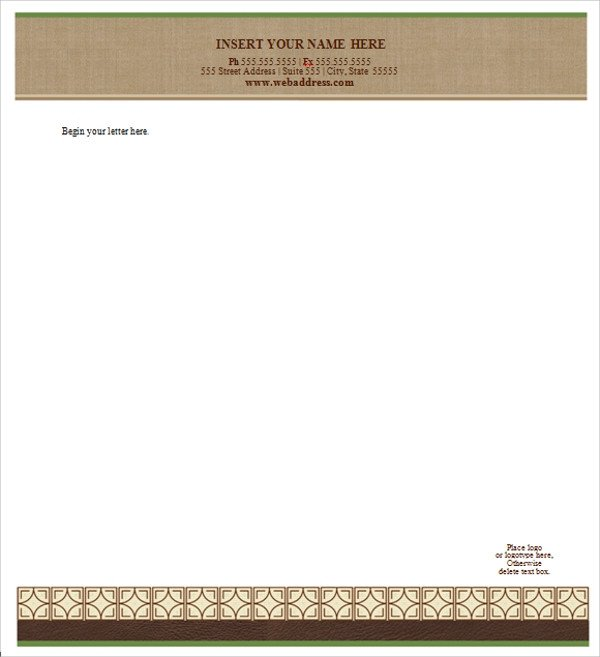 Legal Templates for Word Sample Letterhead Template 42 Free Documents In Pdf