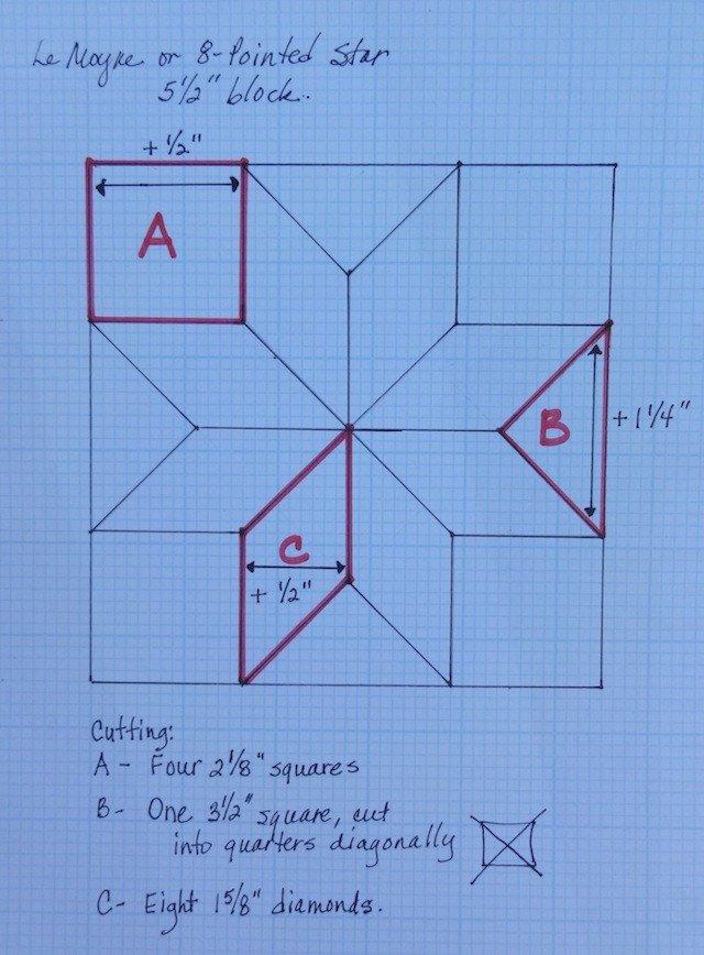 Lemoyne Star Template Drafting Part 2 Making An 8 Pointed or Lemoyne Star In