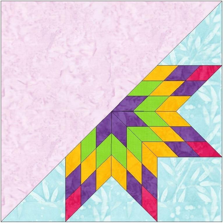 Lemoyne Star Template Half Lemoyne Star 3 Block Template by Humburgcreation