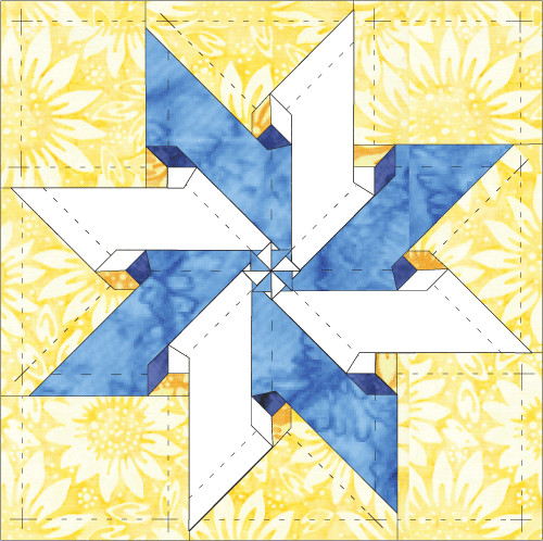 Lemoyne Star Template How to Sew A Lemoyne Star Quilt Block – All About Inklingo