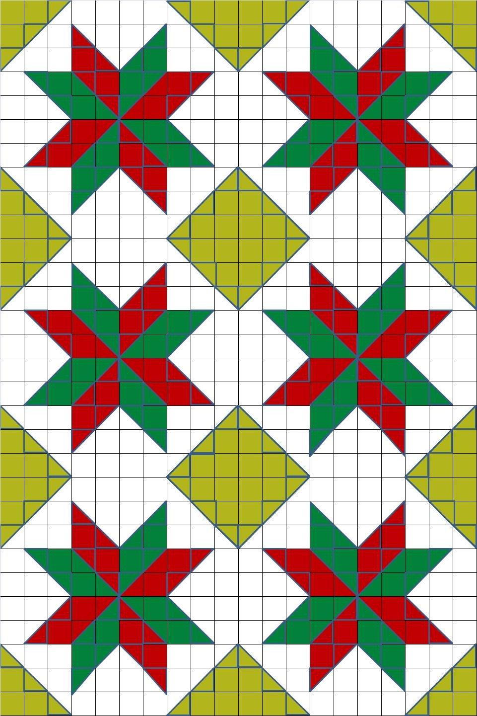 Lemoyne Star Template New Design Christmas Lemoyne Star Crochet Quilt