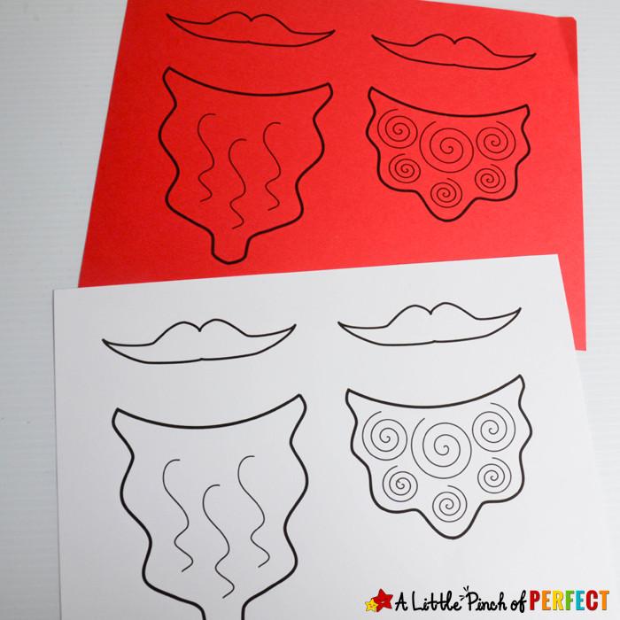 Leprechaun Beard Template Leprechaun Beard Craft and Free Template for St Patrick S