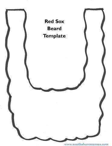 Leprechaun Beard Template Red sox Beard Craft for Kids – south Shore Mamas