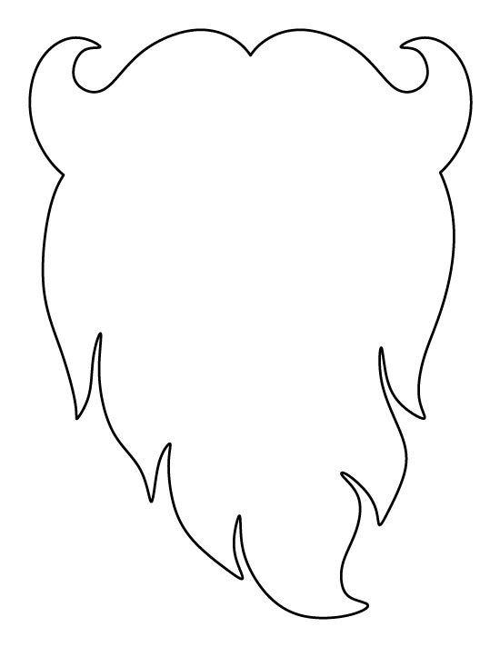Leprechaun Beard Template Santa Claus Beard Pattern Use the Printable Outline for