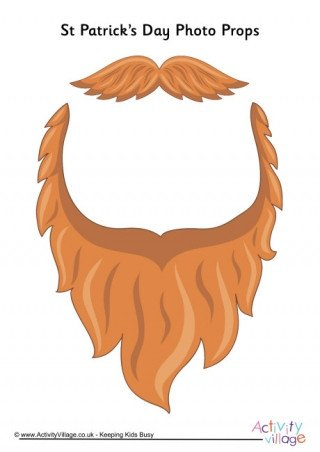 Leprechaun Beard Template St Patrick S Day Props