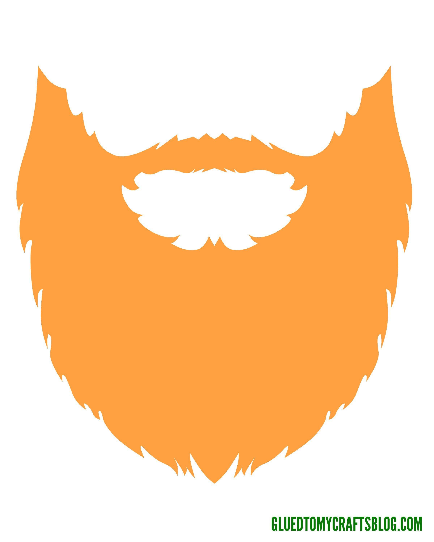 Leprechaun Hat and Beard Template Beard Clipart Leprechaun Pencil and In Color Beard