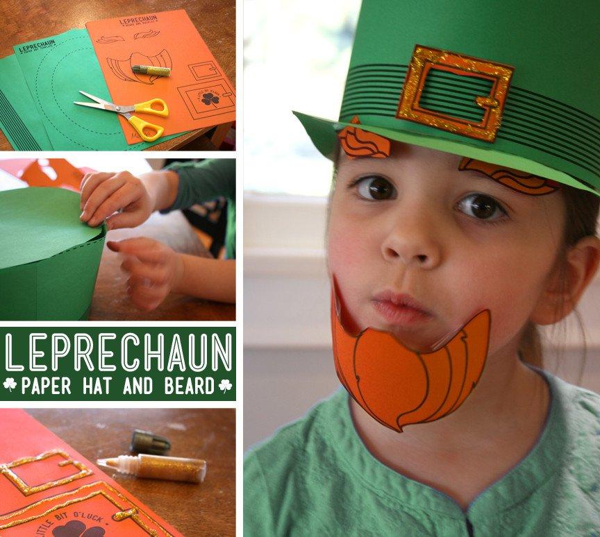 Leprechaun Hat and Beard Template Fab A Little Leprechaun