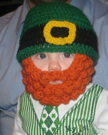 Leprechaun Hat and Beard Template Free St Patrick S Day Crochet Patterns