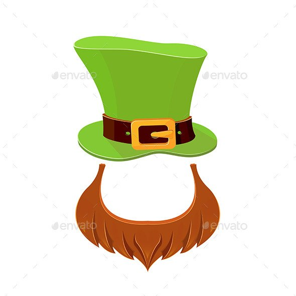 Leprechaun Hat and Beard Template Hat and Beard Leprechaun by Losw