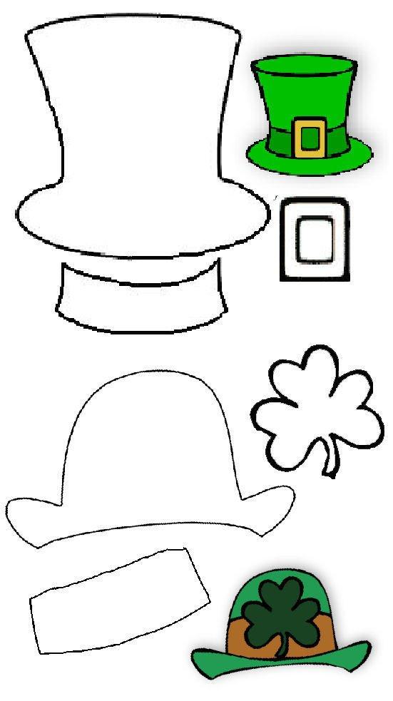 Leprechaun Hat and Beard Template Leprechaun Hat with Beard