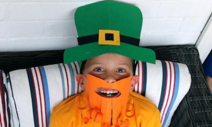 Leprechaun Hat and Beard Template Make A Leprechaun Dress Up Kidspot
