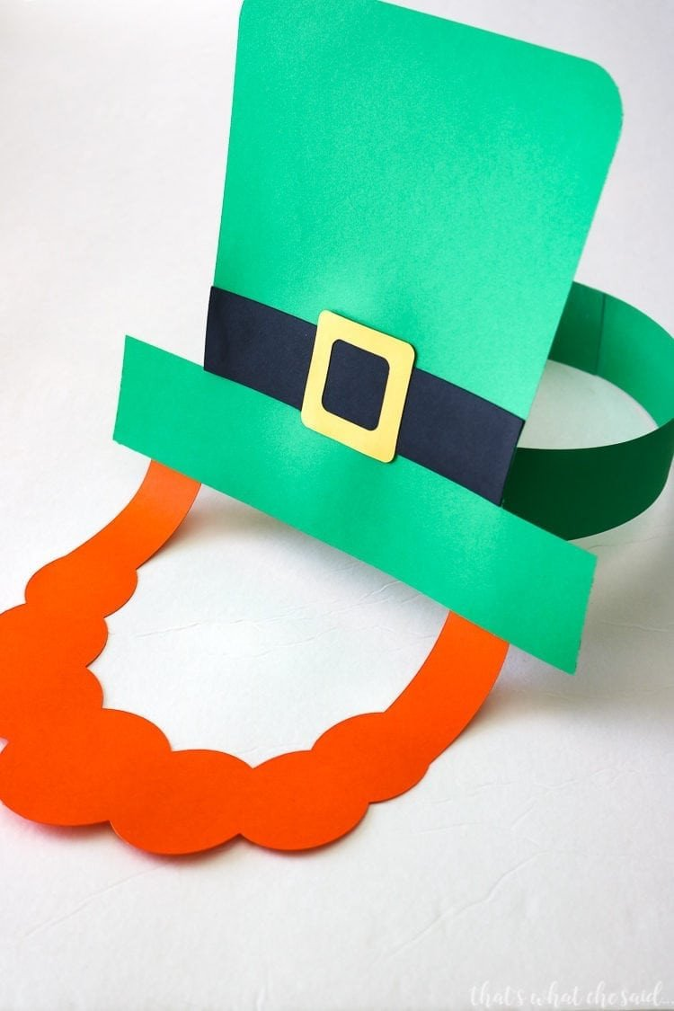 Leprechaun Hat and Beard Template Paper Leprechaun Hat & Beard that S What Che Said