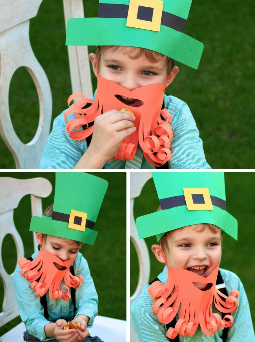 Leprechaun Hat and Beard Template Simple Leprechaun Dress Up Paging Supermom