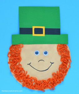 Leprechaun Hat and Beard Template St Patrick S Day Leprechaun Craft for Kids the